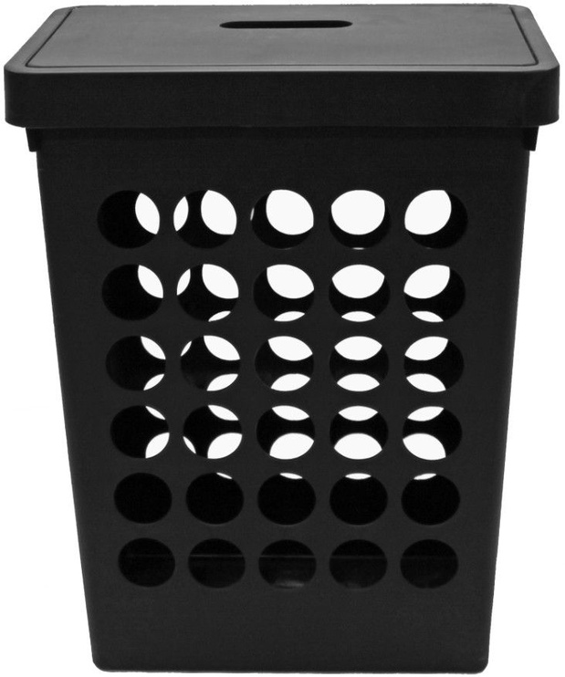 Plast Team Springfield Laundry Basket Rectangular Black 45L