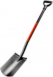 Ega Premium Straight Shovel with Metal Shaft