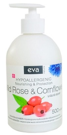 Eva Natura Hypoallergenic Liquid Soap 500ml Wild Rose & Cornflower