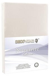 Palags DecoKing Nephrite, smilškrāsas, 200x200 cm, ar gumiju