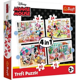 Trefl 4-in-1 Puzzle Minnie Mouse 12/15/20/24/pcs 34355