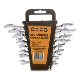 Uzgriežņu atslēgu komplekts 6-22mm 8 gab (Okko)