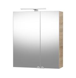 Vonios spintelė su veidrodžiu Riva  SV60C-2 Sonoma Oak