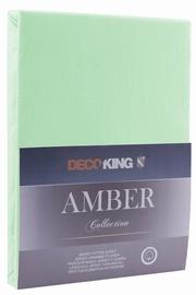 Palags DecoKing Amber, zaļa, 160x200 cm, ar gumiju