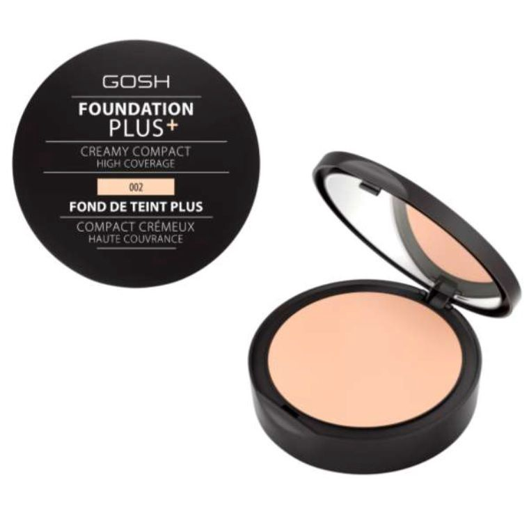 Gosh Foundation Plus + Creamy Compact High Coverage 10g 002