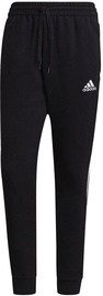 Adidas Essentials Fleece Tapered Cuff 3-Stripes Pants GK8967 Black S