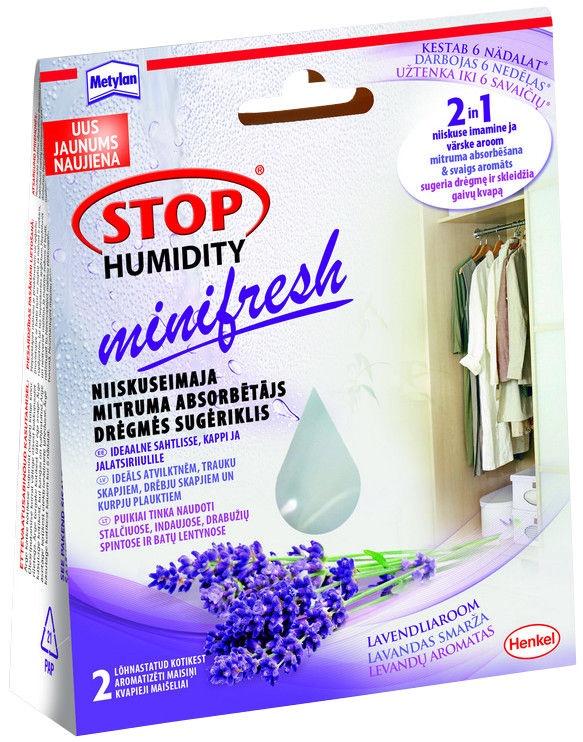 Drėgmę sugeriantys maišeliai Metylan Stop Humidity, levandų kvapo, 2 x 50 g
