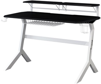 LC-Power Gaming Desk Black/White Carbon