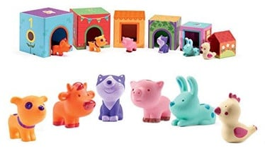 Djeco Stackable Cubes Topanifarm 12pcs 09108