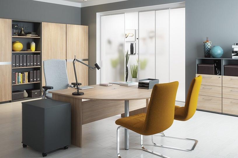 Szynaka Meble Omega 15 Desk Connector Amber Oak/Graphite