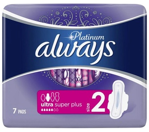 Always Pads Ultra Platinum Super Single 7pcs