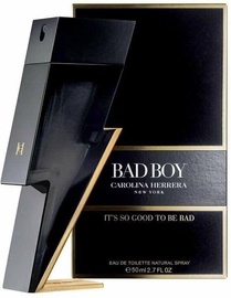 Kvepalai Carolina Herrera Bad Boy 50ml EDT