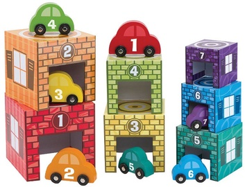 Melissa & Doug Nesting & Sorting Garages & Cars 12435