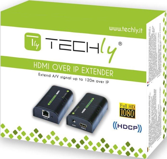 Techly 306004 HDMI Extender by Cat.5/6 Cable 120m