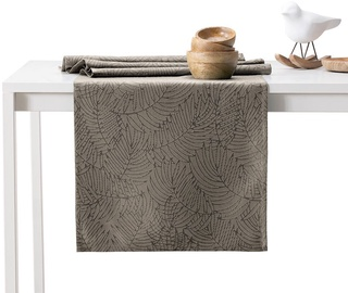 AmeliaHome Gaia AH/HMD Tablecloth Cappuccino Set 115x180/35x180 2pcs