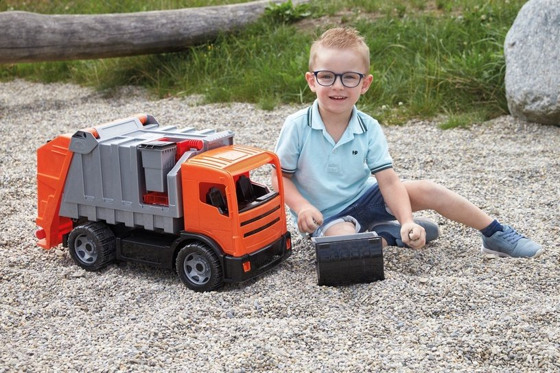 Lena Strong Giant Garbage Truck Orange/Silver 02167