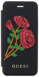 Guess Flower Desire Book Case For Apple iPhone 7/8 Black