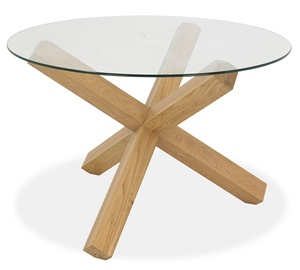 Home4you Turnin Dining Table D120xH75cm Oak