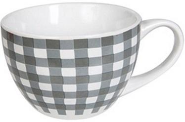 Banquet Jumbo Checkered Gray Mug 400ml