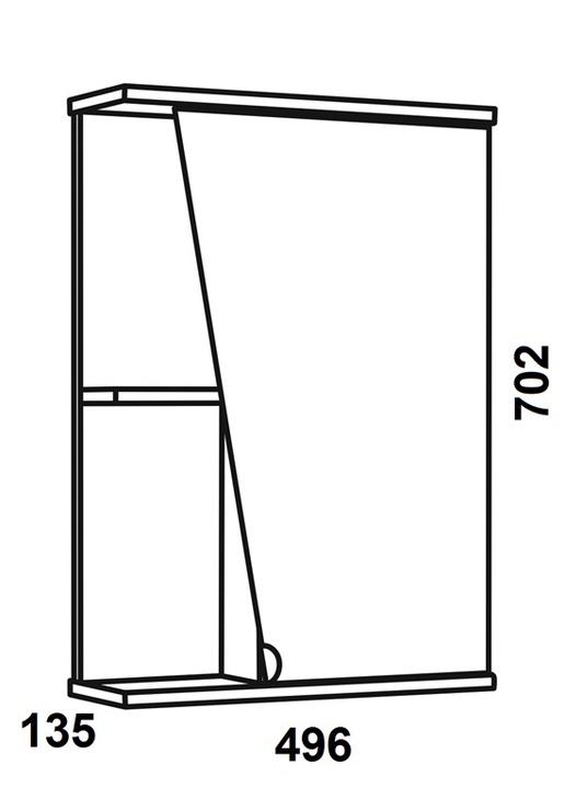 Vonios spintelė su veidrodžiu Riva SV49