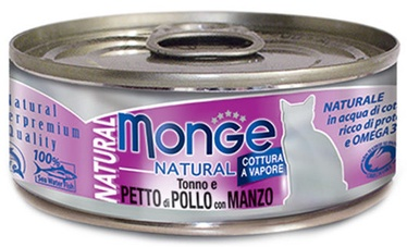 Monge Natural Tuna With Chicken & Beef 80g