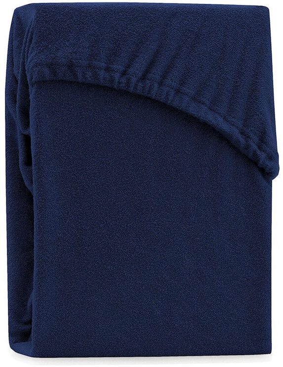 AmeliaHome Ruby Frote Bedsheet 160-180x200 Navy Blue 34