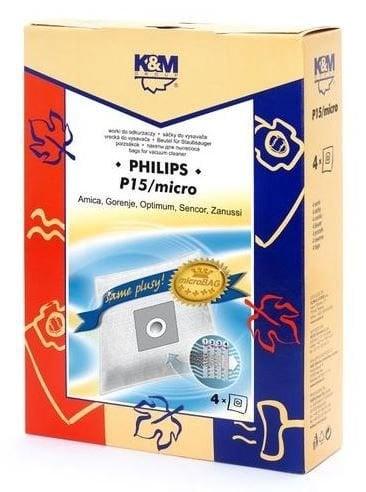 Putekļu sūcēja maiss K&M P15 Mikro, 4 gab.