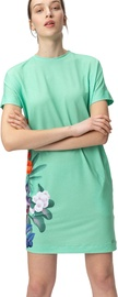Audimas Short Stretch Printed Dress Mint Garden XS