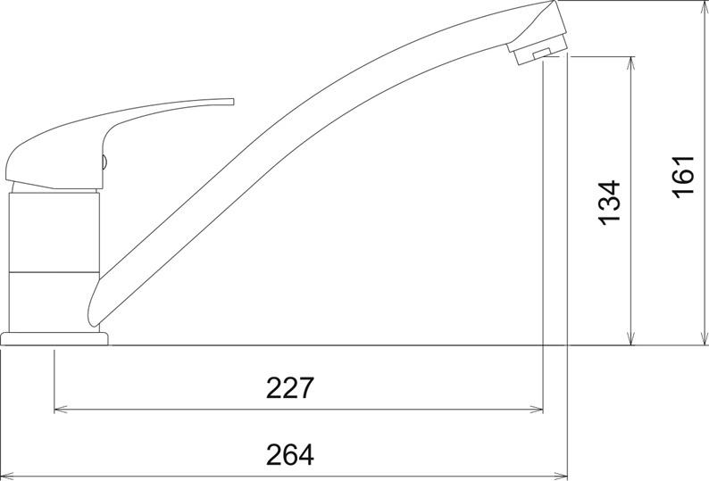 Virtuves ūdens maisītājs Novaservis Neon 93091.0, 20cm