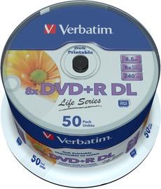 Накопитель данных Verbatim 50x 8.5GB DVD+R DL 8x 97693