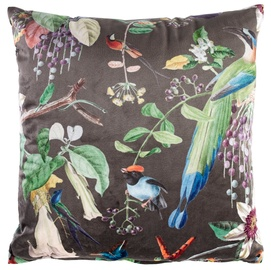Home4you Holly Cushion 45x45cm Brown/Tropical Plants