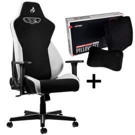 Nitro Concepts Gaming Chair S300 Black/White+Nitro Concepts Memory Pillow Set