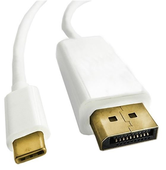 Qoltec Cable USB 3.1 / DisplayPort White 1m