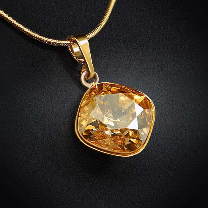 Diamond Sky Pendant Glare IV Golden Shadow With Swarovski Crystals