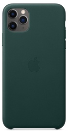 Apple Leather Back Case For Apple iPhone 11 Pro Max Forest Green