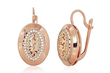Diamond Sky 14K Red Gold Earrings Gold of the Gods Solid Gold 585