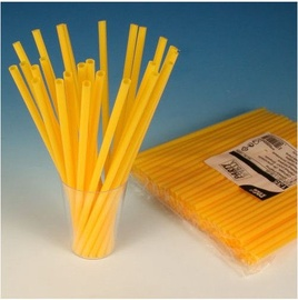 Pap Star Cocktail Straws 135PCS Yellow