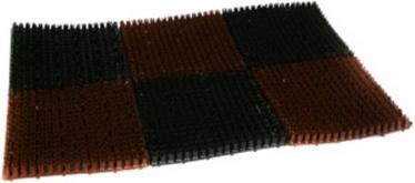 Durvju paklājs Verners Trawka 812-116 Black/Brown, 600x400 mm