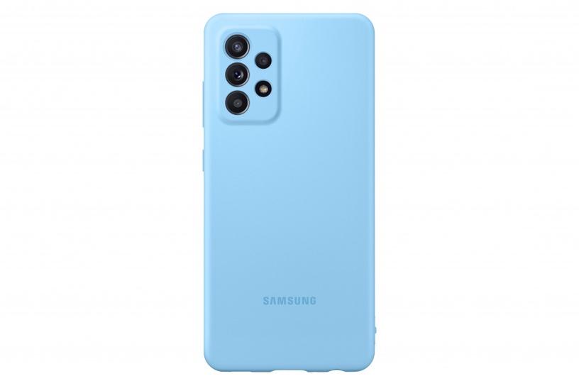 Samsung Silicone Back Case For Samsung Galaxy A52 Blue