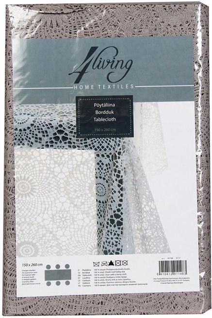 4Living Tablecloth 150x260cm Grey