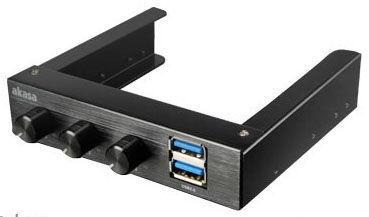 Akasa Control Panel with USB 3.0 Black