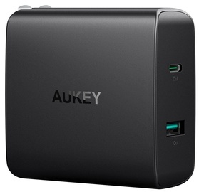 Aukey Amp 46W PD Wall Charger Power Delivery 3.0 Black