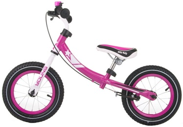 Lastejalgratas Milly Mally Young Balance Bike Pink 2084