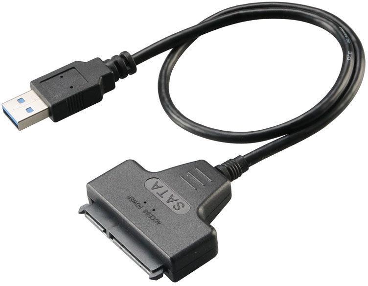 Akasa USB 3.0 To Sata Adapter Cable 0.4m Black