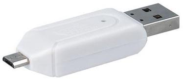 Forever USB + Micro USB Card Reader SD + MicroSD White