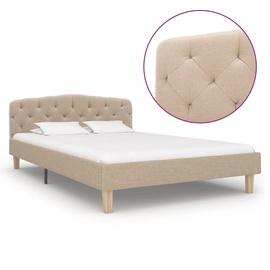 Кровать VLX Fabric 284932, кремовый, 210x124 см, с решеткой