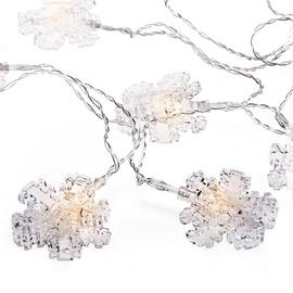 Elektriskā virtene DecoKing Kaleo Snowflake Clear LED w/ Clips, 10 gab.
