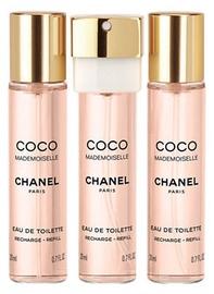 Tualettvesi Chanel Coco Mademoiselle 3x20ml EDT Travel Spray