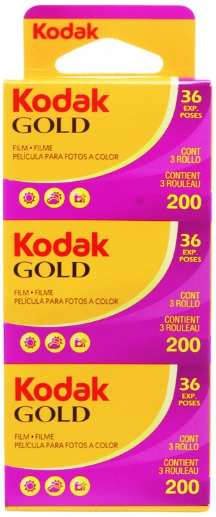 Kodak Gold 200 Color Negative Film 36x3pcs