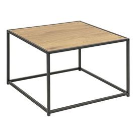 Kavos staliukas Home4you Seaford Oak, 600x600x400 mm